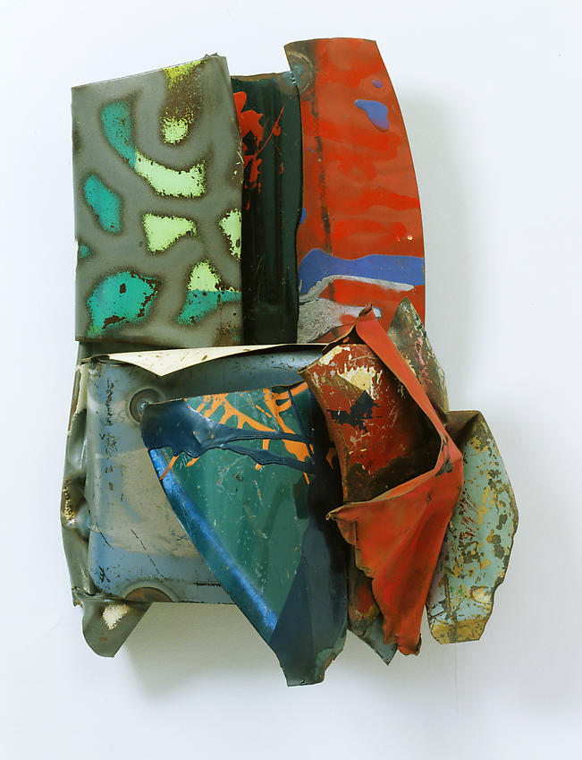 JOHN CHAMBERLAIN  (1927 - 2011)<br /><i>Available Grace</i><br />1983<br />painted steel<br />31 1/2 x 24 x 11 inches (80 x 61 x 27.9 cm)<br />