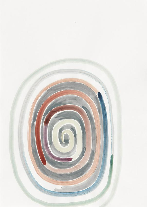 Silvia Bächli<br />Untitled<br />2010<br />gouache on paper<br />24 3/8 x 17 3/8 inches (62 x 44 cm) <br />PF1980<br />