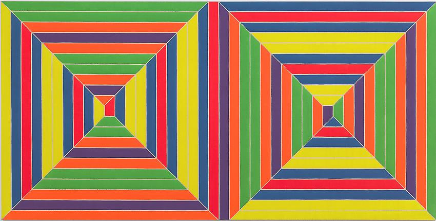 FRANK STELLA<br />Double Mitered Maze	<br />1967<br />Alkyd on canvas<br />62 1/2 x 125 inches<br /> (158.8 x 317.5 cm)<br />