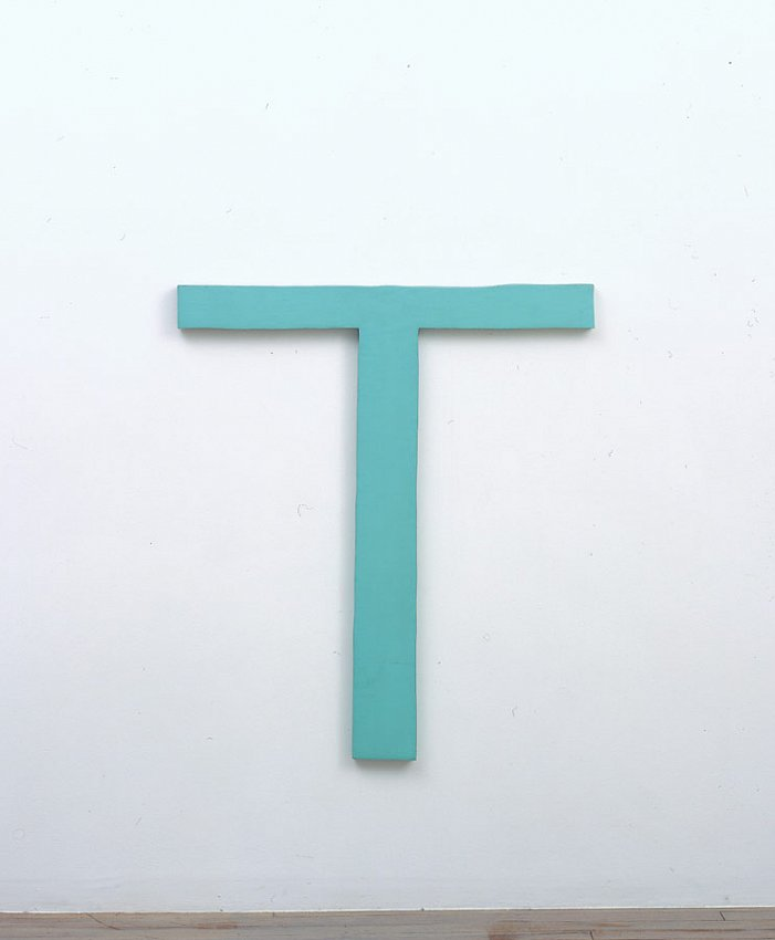 Richard Tuttle<br />Table<br />1965									<br />acrylic on plywood							<br />36 3/16 x 31 7/8 x 1 1/8 inches <br />(92 x 81 x 3 cm)<br />