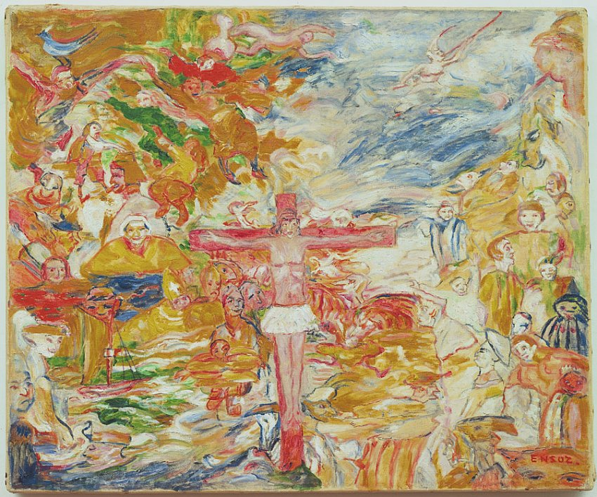 Le Christ agonisant (Christ in Agony)<br />1939 (1938?)<br />oil on canvas<br />50.5 x 61 cm<br />