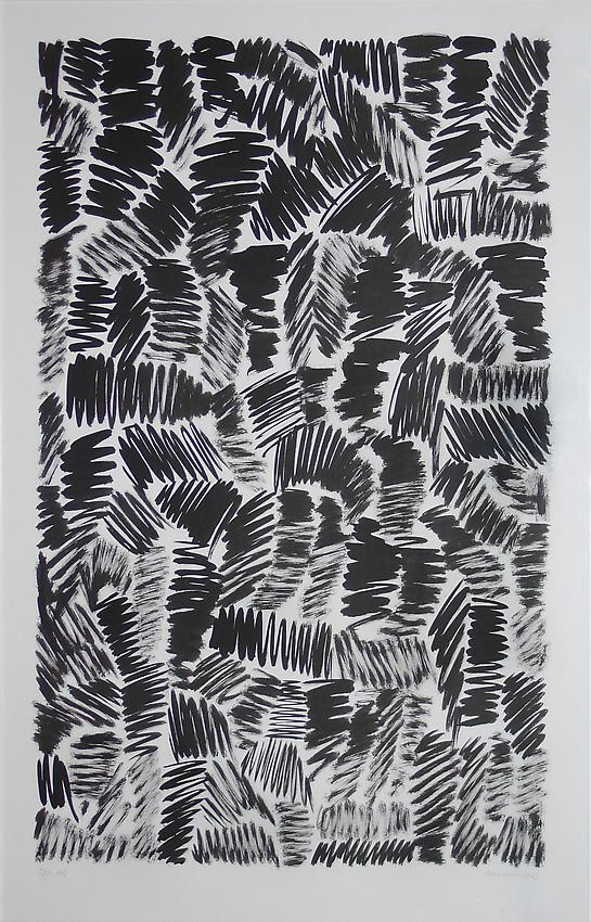 Jan Schoonhoven<br />T 79-112<br />1979<br />tusche on paper<br />38 3/4 x 25 inches<br />(98.5 x 63.5 cm)<br />
