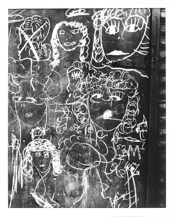 HELEN LEVITT<br />New York<br />ca. 1938<br />early silver print<br />9-3/4 x 7-3/4 inches (24.76 x 19.68 cm)<br />