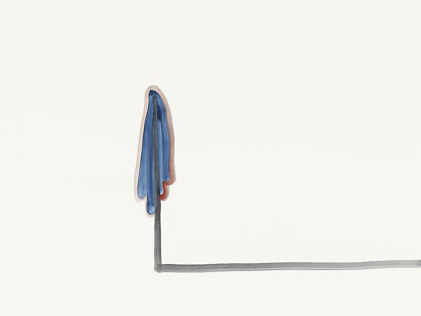 Silvia Bächli<br />Untitled<br />2010<br />gouache on paper<br />23 5/8 x 31 1/2 inches (60 x 80 cm) <br />PF1971<br />