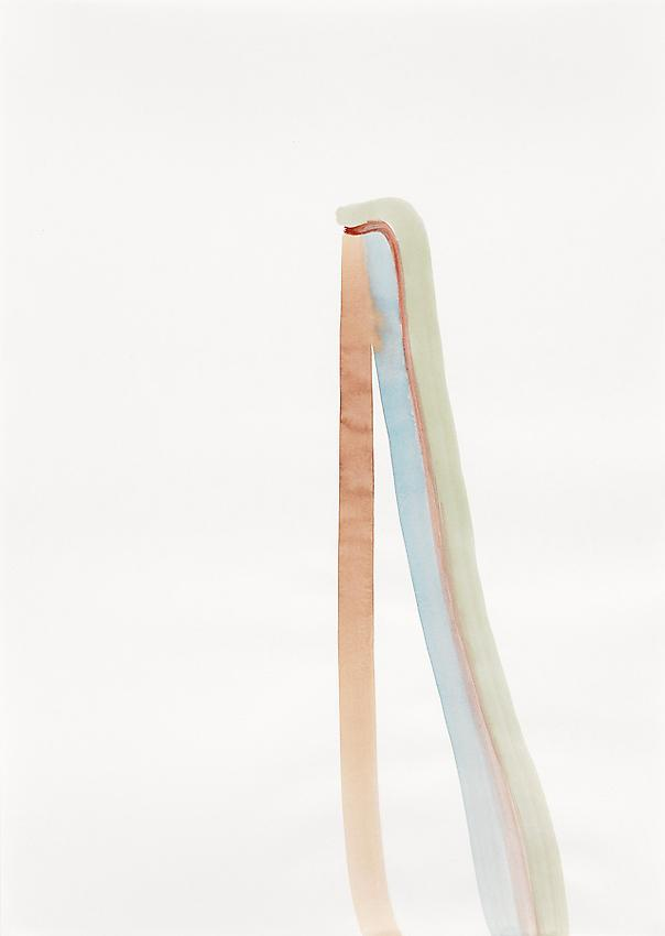 """Silvia Bächli<br />Untitled (part of the installation """"das"""")<br />2009<br />gouache on paper<br />24.4 x 17.3 inches<br />(62 x 44 cm)<br />"""