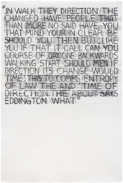 Mel Bochner<br />You Can Call It That If You Like<br />2001<br />charcoal on two sheets of paper<br />44 x 30 inches<br /> (111.76 x 76.20 cm)<br />