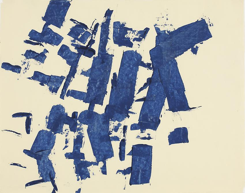 Charlotte Posenenske<br />Untitled, 1960/ 1961<br />acrylic on paper<br />19 3/8 x 24 1/2 inches<br />