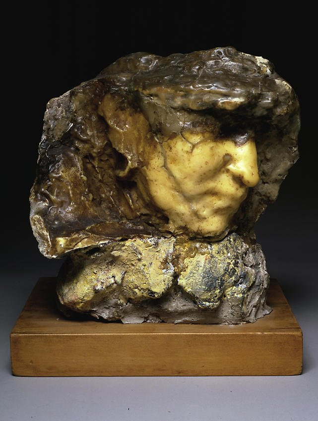 Medardo Rosso<br />Carne altrui   <br />1883<br />wax over plaster with pigment<br />9 1/4 x 8 3/4 x 6 3/4 inches<br />  (23.5 x 22.9 x 16 cm)<br />