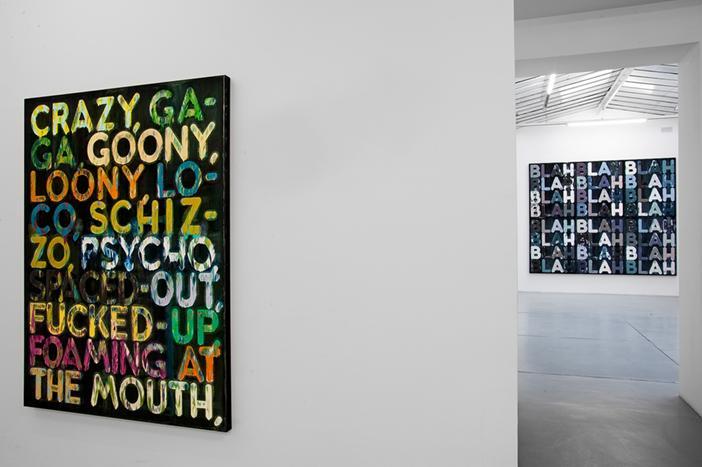 Mel Bochner<br />Exhibition view, Galerie Nelson-Freeman, Paris<br />2010<br />