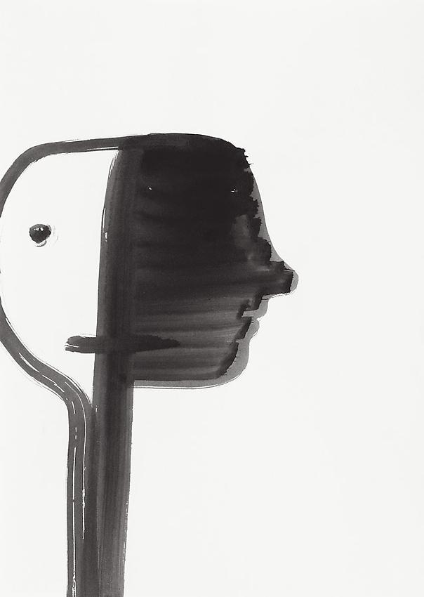 Silvia Bächli<br />Untitled<br />2010<br />gouache on paper<br />12 1/4 x 8 5/8 inches (31 x 22 cm) <br />PF2002<br />