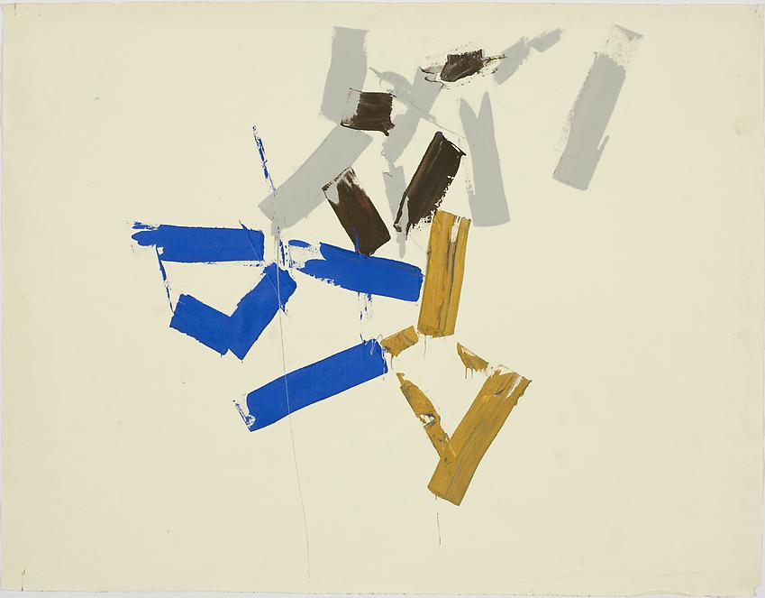 Charlotte Posenenske<br />Untitled, c. 1962<br />acrylic on paper	<br />24 3/4 x 19 inches<br />