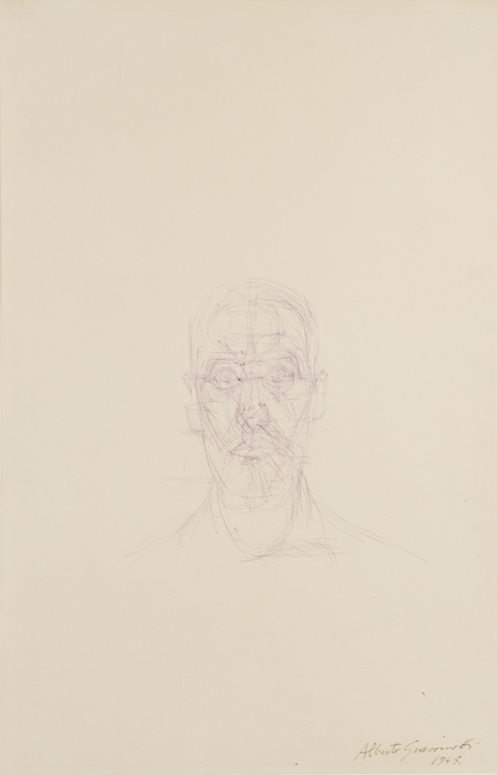Alberto Giacometti&lt;br /&gt;Portrait de Louis Chavignier&lt;br /&gt;c. 1963&lt;br /&gt;ballpoint pen on paper&lt;br /&gt;19 7/8 x 12 7/8 inches (50.4 x 32.7 cm)&lt;br /&gt;