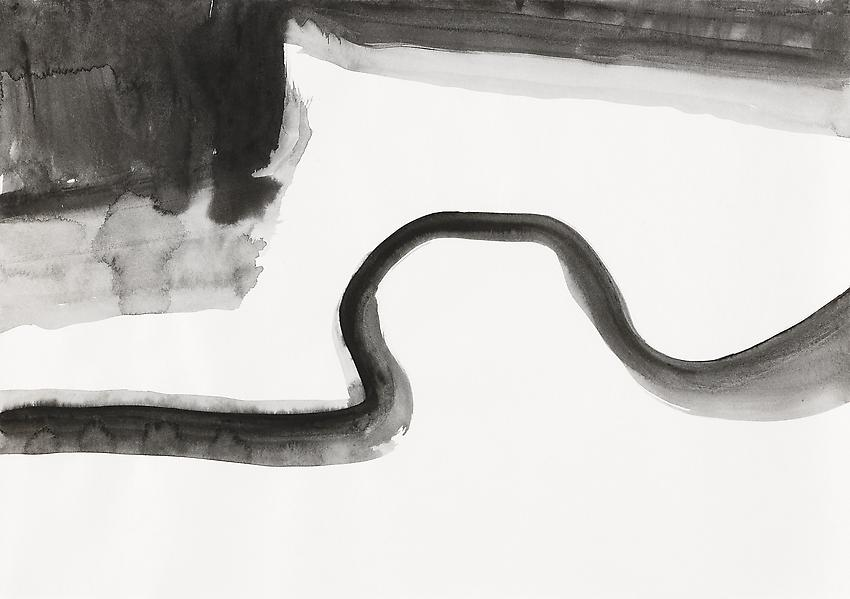 """Silvia Bächli<br />Untitled (part of the installation """"das"""")<br />2009<br />gouache on paper<br />12 1/4 x 17 3/8  inches<br /> (31 x 44 cm)<br />"""