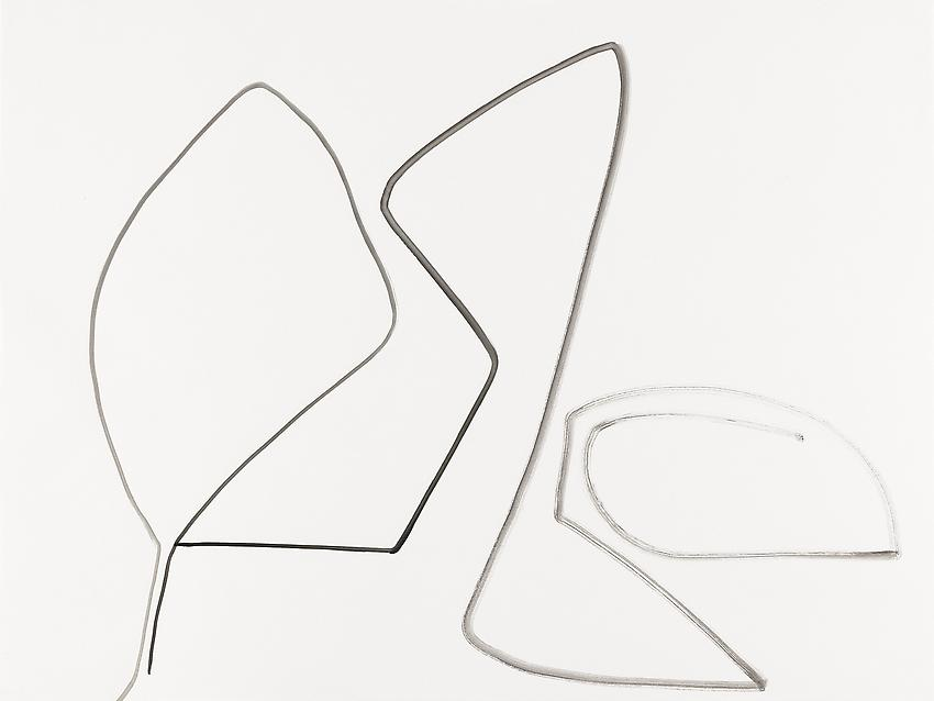 """Silvia Bächli<br />Untitled (part of the installation """"das"""")<br />2009<br />gouache on paper<br />23 5/8 x 31 1/2 inches<br />(60 x 80 cm)<br />"""