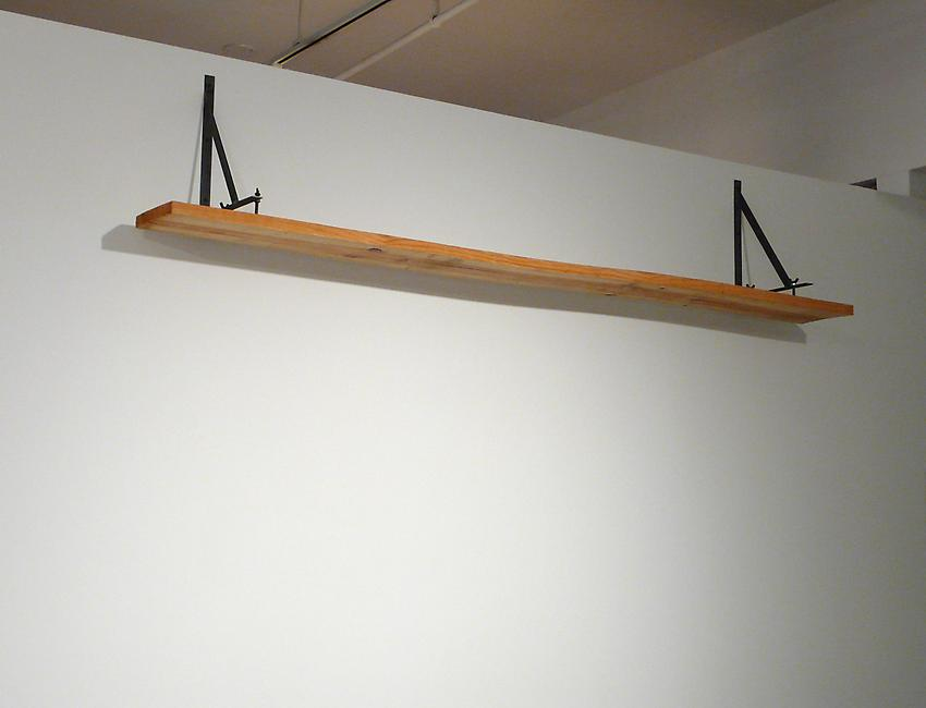 <u>Robinson's Test</u><br />2010<br />pine and steel<br />15 x 80 3/4 x 11 inches (39 x 205 x 28.2 cm)<br />