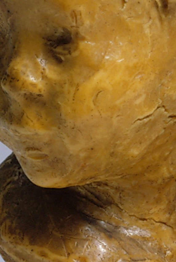 Medardo Rosso<br />[detail] Bambino ebreo<br />1892-93<br />wax over plaster on artist's base<br />10 x 5 7/8 x 7 5/8 inches<br />(25.5 x 15 x 19.5 cm)<br />