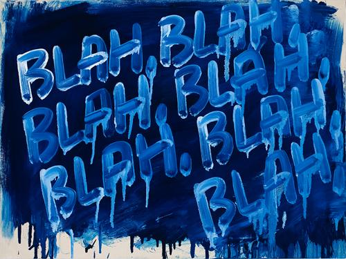 MEL BOCHNER<br /><i>Blah, Blah, Blah</i><br />2008<br />oil on canvas<br />18 x 24 inches (152.4 x 114.3 cm)<br />