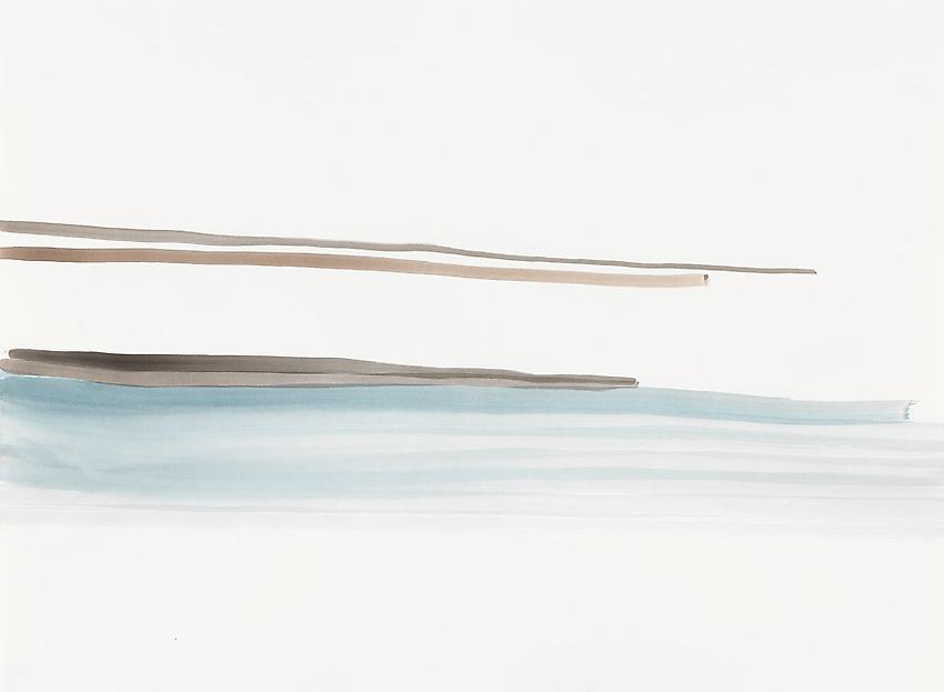 Silvia Bächli<br />Untitled<br />2010<br />gouache on paper<br />21 5/8 x 29 1/2 inches (55 x 75 cm) <br />PF1974<br />