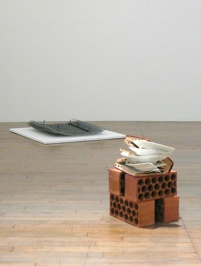 Richard Wentworth<br />Terra Firma<br />2009<br />dictionary, ceramic and bricks<br />15 x 13 1/2 x 10 inches<br />  (38 x 34.4 x 25.5 cm)<br />
