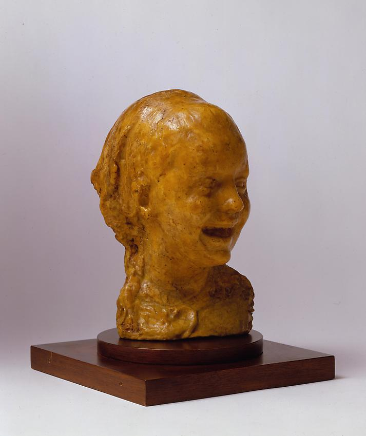 Medardo Rosso<br />Bambina che ride <br />1889-90<br />wax over plaster<br />10 x 7 x 7 1/2 inches <br />  (25.4 x 17.8 x 19 cm)<br />