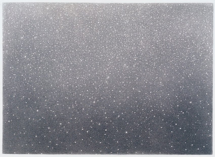 VIJA CELMINS<br />	Untitled #3<br />	1994–95<br />	charcoal on paper					<br />	22 x 30 inches (55.88 x 76.2 cm)<br />
