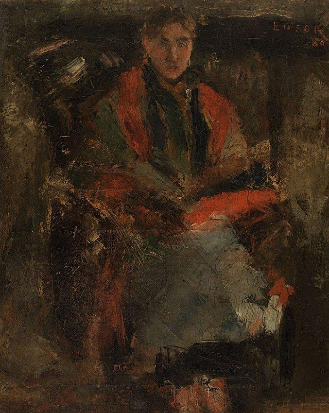 La femme au châle rouge (Woman with a Red Shawl)<br />1880 <br />oil on canvas<br />40.5 x 32.5 cm<br />