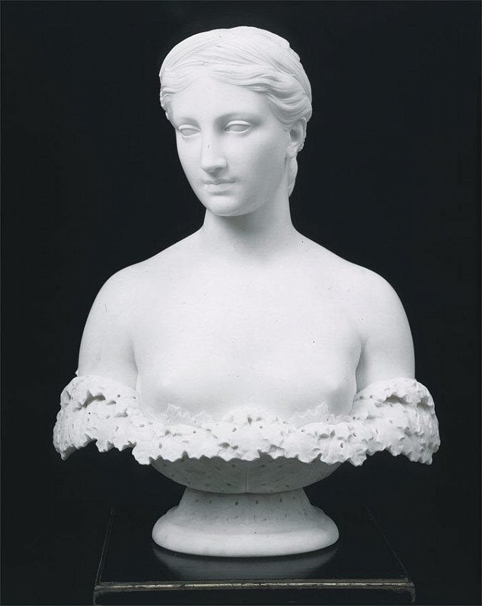Hiram Powers<br />Proserpine<br />c. 1848<br />marble<br />25 x 18 x 9 1/2 inches<br />(63.5 x 45.7 x 24.1 cm)<br />