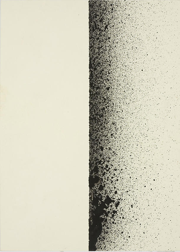 CHARLOTTE POSENENSKE<br /><i>Spritzbild</i> (Sprayed Picture)<br />1964 / 1965<br />spray pigment on paper<br />7 1/8 x 5 1/8 inches (18 x 13 cm)<br />