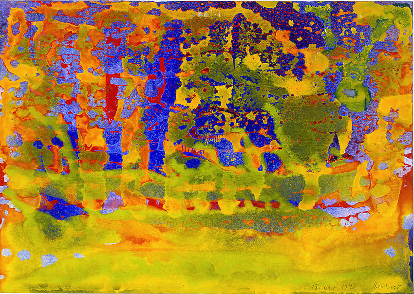 GERHARD RICHTER&lt;br /&gt;15 Okt.1992&lt;br /&gt;1992&lt;br /&gt;watercolor on paper&lt;br /&gt;9 3/8 x 13 5/16 inches&lt;br /&gt;  (24 x 34 cm)&lt;br /&gt;