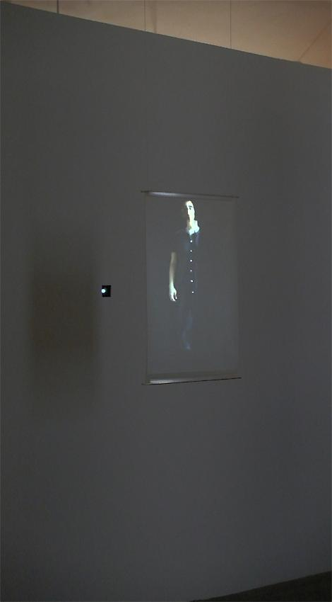 FIONA TAN<br />Projection<br />2010<br />Color, silent<br />HD-cam safety master, rear projection screen 80 x 45 cm, HD projector<br />