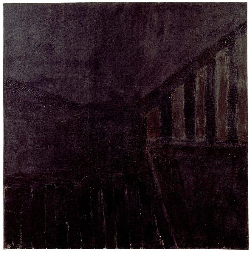 Frank Stella<br />Yugatan<br />1958<br />oil and enamel on canvas<br />73 1/4 x 73 5/16 inches<br />(186 x 186.2 cm)<br />