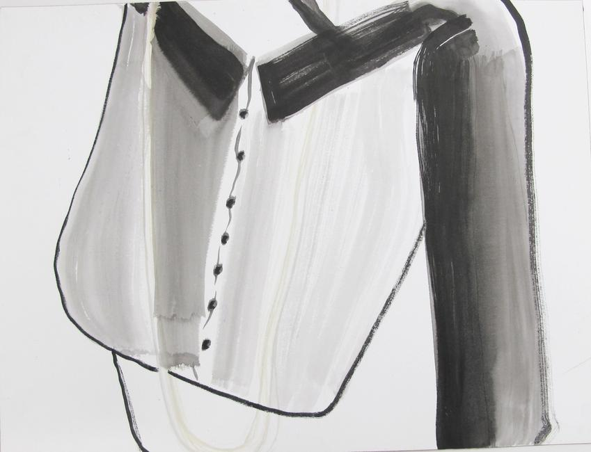 ANNE-MARIE SCHNEIDER<br /><i>untitled</i><br />2012<br />watercolor on paper<br />12 3/16 x 16 1/8 inches (31 x 41 cm)<br />