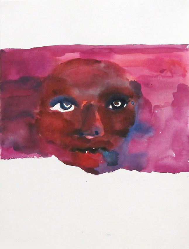Untitled, 2012<br />watercolor on paper<br />40 x 30 cm<br />15 3/4 x 11 13/16 inches<br />