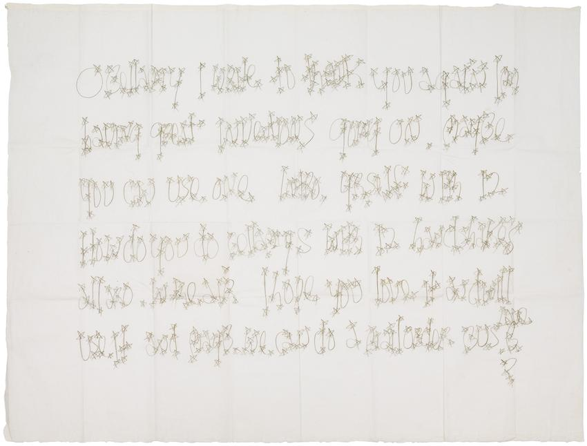 JAMES LEE BYARS (1932 – 1997) <br /><br /><i>Letter to Bellamy from James Lee Byars</i><br />graphite on Japanese rice paper<br />21 x 27 7/8 inches<br />  (53.3 x 70.8 cm)<br /><br />Private collection, New York<br />