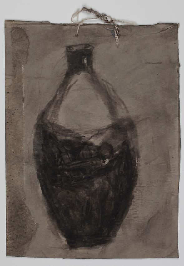 James Castle<br />Untitled<br />no date<br />found paper, soot, string <br />7 5/8 x 5 1/2 inches <br />(19.4 x 14 cm) <br />PF2764<br />