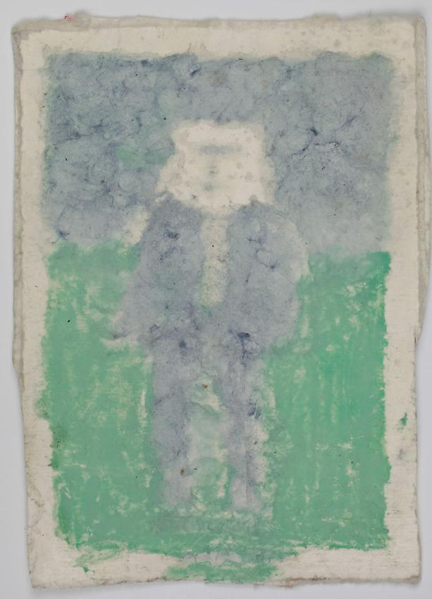 James Castle<br />Untitled<br />no date<br />Found paper, color of unknown origin <br />6 7/8 x 5 inches <br />(17.5 x 12.7 cm) <br />PF2881<br />