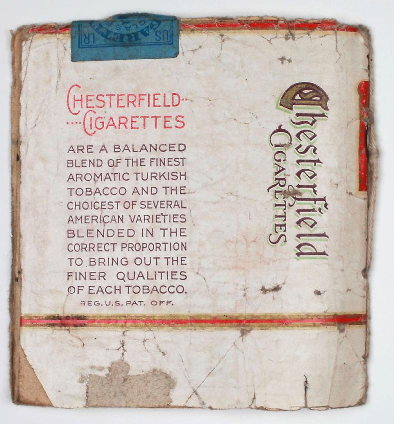 James Castle<br />Untitled (Chesterfield)<br />no date<br /> 8 pps, found paper, soot, string <br />3 3/8 x 3 1/8 inches <br />(8.6 x 7.9 cm) <br />PF2900<br />
