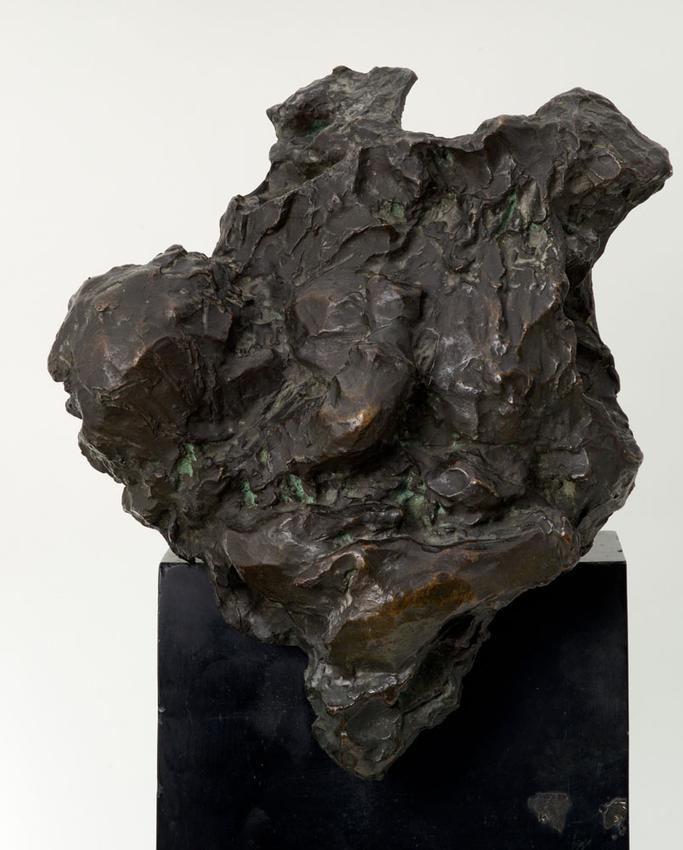 Medardo Rosso (1858 - 1928)<br /><br />Enfant au Sein<br />1889; thought to be cast 1920-1923<br />cast bronze<br />18 1/4 x 16 1/2 x 10 inches<br />(46.4 x 41.9 x 25.4 cm)<br />overall:<br />25 x 16 1/2 x 10 1/4 inches<br />(63.5 x 41.9 x 26 cm)<br />PF3847<br />