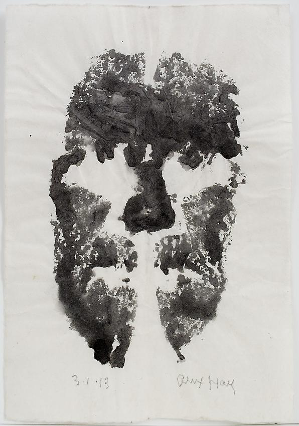 Alex Hay<br />Face Print<br />2013<br />powdered charcoal and gum arabic on japanese rice paper<br />12 3/4 x 9 inches<br />(32.4 x 22.9 cm)<br />PF3013a<br />