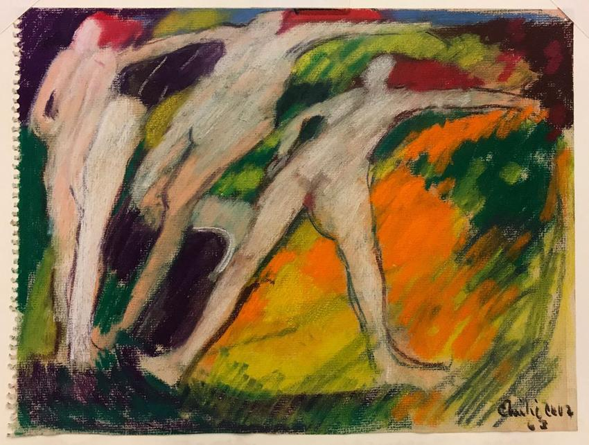 "EMILIO CRUZ (1938 – 2004)<br /><br /><i>Untitled [from ""The Dance"" series]</i><br />1963<br />pastel, oil stick, and pencil on paper<br />9 x 12 inches<br />  (22.9 x 30.5 cm)<br /><br />Courtesy the artist's estate<br />"