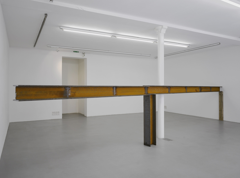 PEDRO CABRITA REIS<br /><i>It is never about balance #2</i><br />2008<br />steel beam (HEB200)<br />dimensions variables<br />