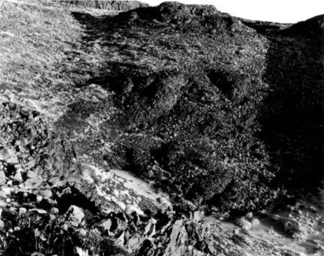 JOSEPH BARTSCHERER<br /><i>(Pioneering Mattawa) Basalt.</i><br />1984-94<br />gelatin silver print, selinium toned<br />5,9.5 x 72,3 X 2,5 cm)<br />Edition of 10<br />