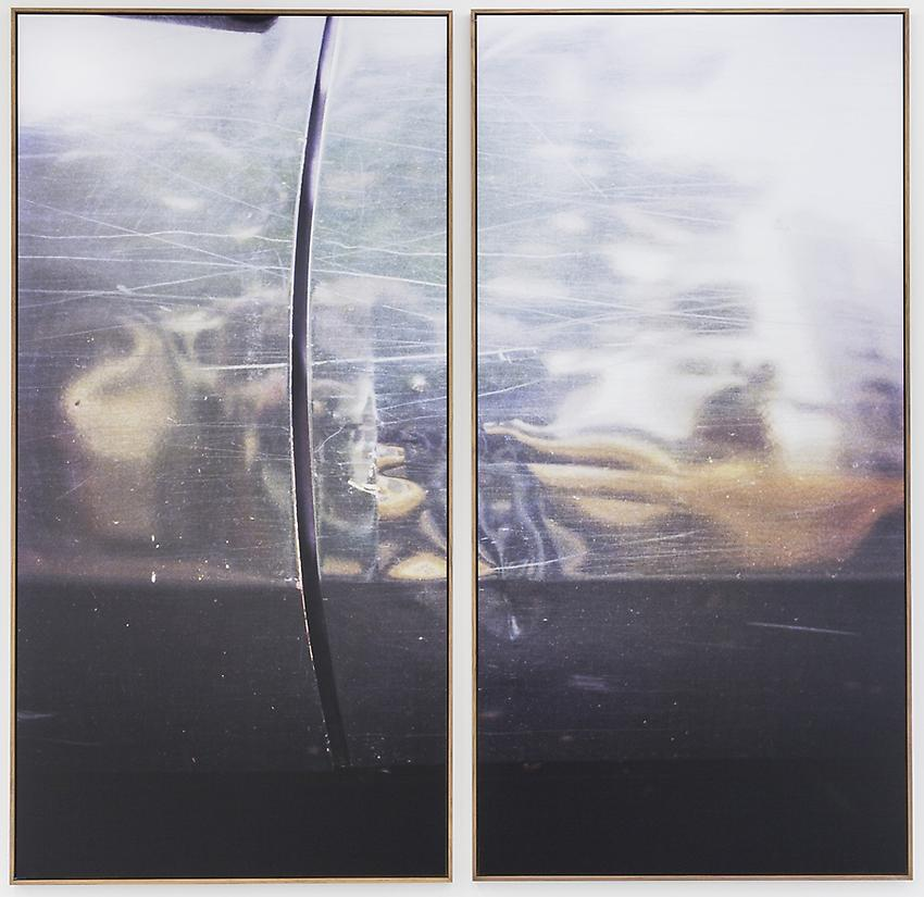JAN DIBBETS<br /><br /><i>New Colorstudy (Diptych silver grey)</i><br />1976 / 2012<br />color photograph<br />diptych, each: 98 7/16 x 49 3/16 inches (250 x 125 cm)<br />Edition 1/2 + 1 A.P.<br />