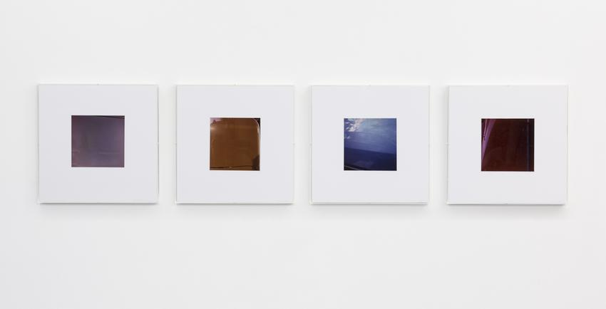 JAN DIBBETS<br />Colorstudy F1, 2, 3, 4<br />1976<br />color photographs on paper in four parts<br />each: 16 15/16 x 16 15/16 inches<br />  (43 x 43 cm)<br />