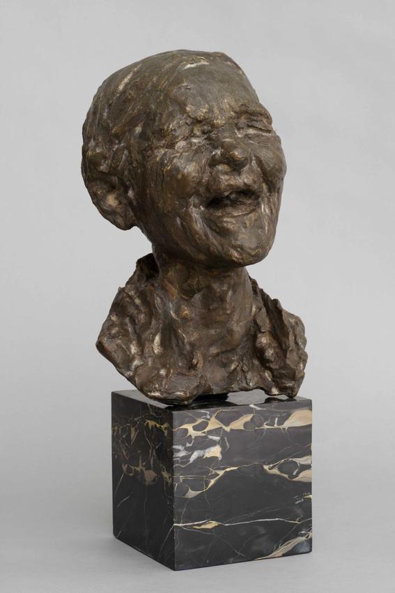 <u>La Ruffiana</u><br />1883<br />cast bronze<br />18 1/8 x 9 1/4 x 8 1/2 inches<br />(46 x 23.5 x 21.6 cm)<br />