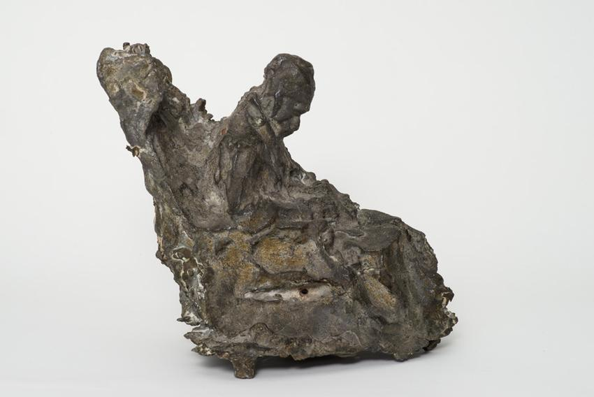 Medardo Rosso (1858 - 1928)<br /><br />Malato all'ospedale<br />1889; thought to be cast 1895-1901<br />cast bronze<br />8 1/2 x 9 9/16 x 7 3/8 inches<br />(21.6 x 24.3 x 18.7 cm)<br />PF3705<br />