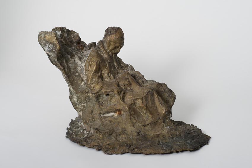 Medardo Rosso (1858 - 1928)<br /><br />Malato all'ospedale<br />1889<br />cast bronze<br />7 3/4 x 12 7/8 x 7 7/8 inches<br />(19.7 x 32.7 x 20 cm)<br />PF3614<br />