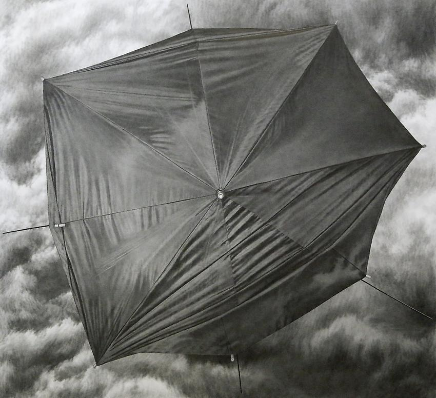 Catherine Murphy<br />Sprung<br />2012<br />graphite on paper  <br />44 x 40 1/2 inches <br /> (111.7 x 102.2 cm) (sight)<br />