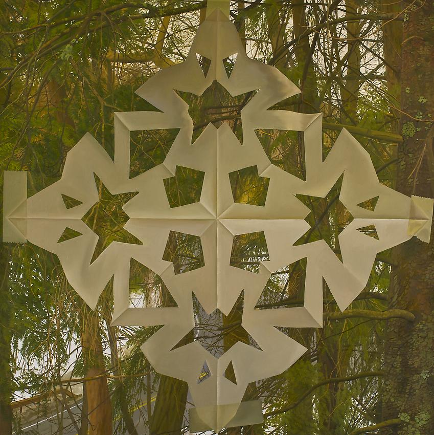 Catherine Murphy<br />Snowflake<br />2012<br />oil on canvas<br />52 x 52 inches<br />