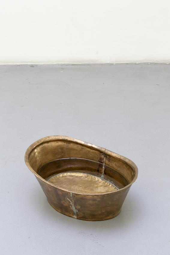 DAVID ADAMO<br /><i>Untitled</i><br />2012<br />copper bathtub<br />8.27 x 17.13 x 11.81 inches (21 x 43.5 x 30 cm)<br />